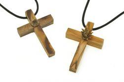 Cruz de Madeira Flor de Jericó