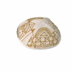 Kipá Jerusalém Dourada - Y41
