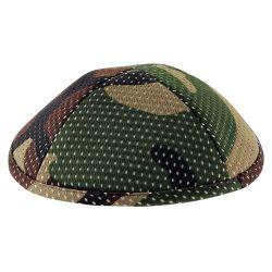 Kipá Camuflado Verde Pintas - K171