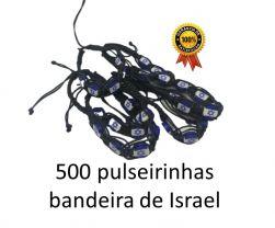 500 Pulseirinhas Bandeira de Israel