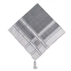 Lenço Palestino Keffiyeh Arafat - Preto e Branco Luxo