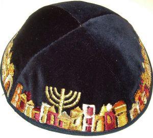 Kipá Jerusalém Dourado - K07