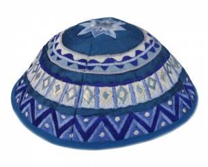 Kipá Bordado Azul - Y02