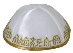 Kipá Jerusalém dourada - K115